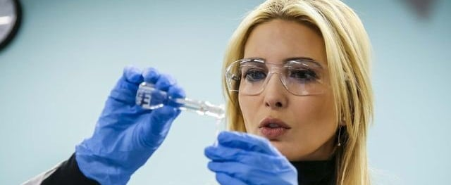 Ivanka Trump Scientist Cosplay Photo March 2018
