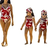 Mother Daughter Floral Printed Spaghetti Strap Swimwear