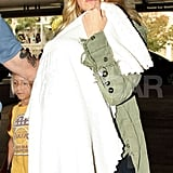 Kate Hudson carried baby Bingham at LAX.