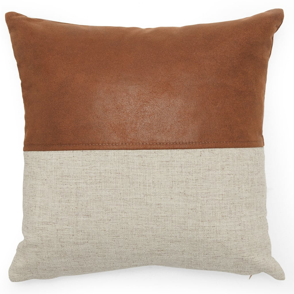 MoDRN Industrial Mixed Material Decorative Throw Pillow