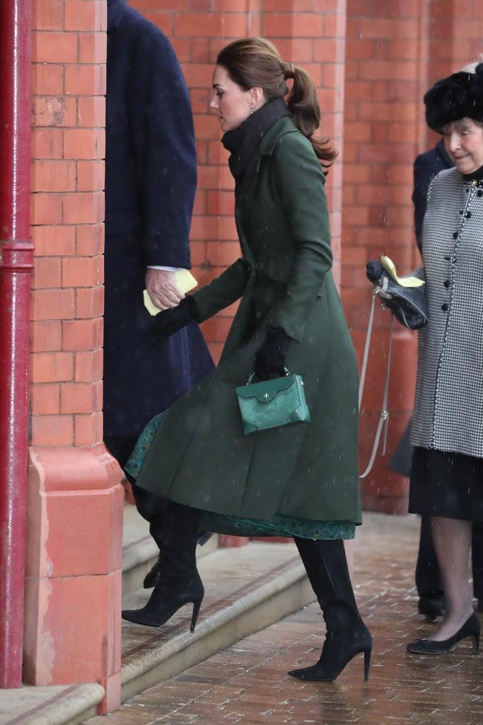 Kate Middleton's Green Sportmax Coat Blackpool March 2019