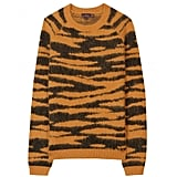 This tiger-print sweater has a stop-and-stare appeal. Mulberry Animal Print Angora Pullover ($564)