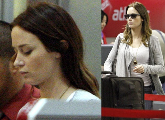 Photos Of Emily Blunt At LAX, Plus An Interview with the Actress About New Movie The Young Victoria