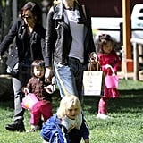 Gwen Stefani went to a park with Zuma.