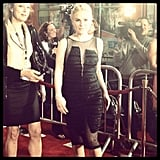 Anna Paquin showed off her growing baby bump in a Rachel Comey dress at the LA premiere of True Blood.