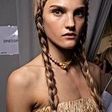 Spring 2020 Runway Beauty: Simple Plaits