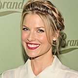 Ali Larter opted for a crown braid and glossy red lips at the Lucky Brand Beverly Hills store opening.