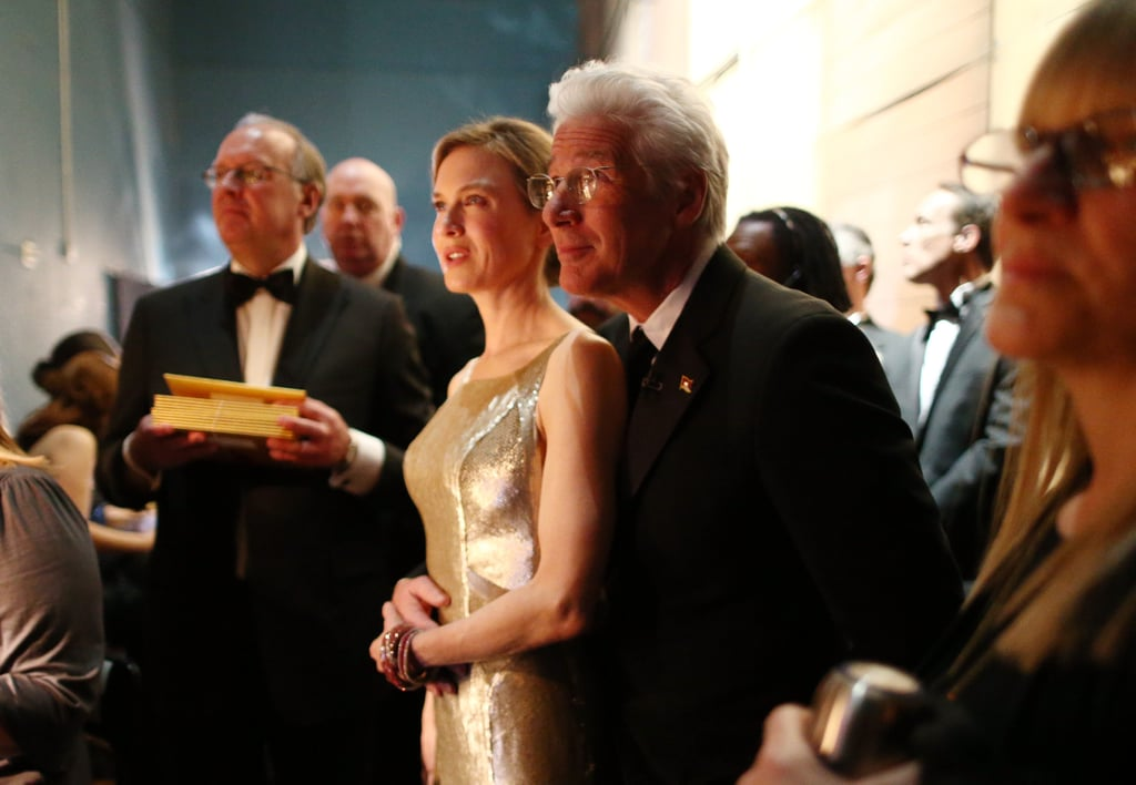 Renée Zellweger and Richard Gere backstage at the Oscars.