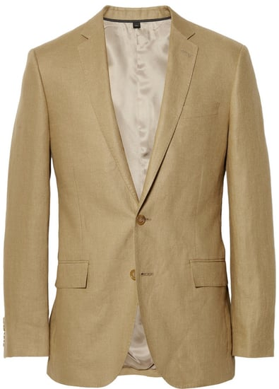 J.Crew Tan Ludlow Linen Suit Jacket