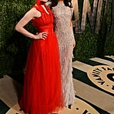 Les Misérables stars Amanda Seyfried and Samantha Barks made a dynamic duo.