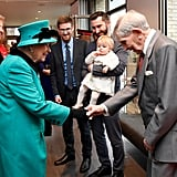Queen Elizabeth II at Coram Charity in London December 2018