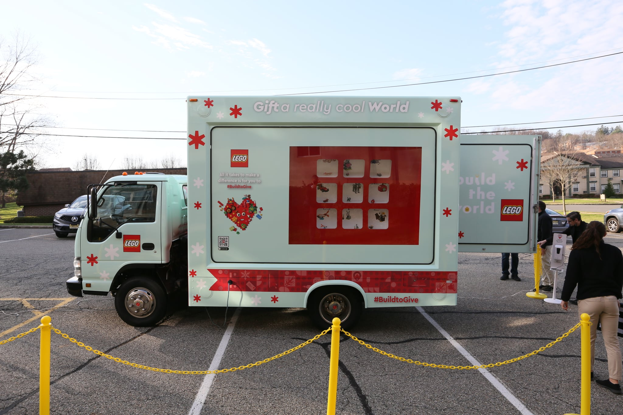 LEGO Holiday Truck Tour on Saturday, Nov. 21, 2020 in Randolph, N.J. (Stuart Ramson/AP Images for The LEGO Group)