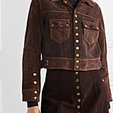 Re/Done 60s Cropped Two-Tone Suede Jacket
