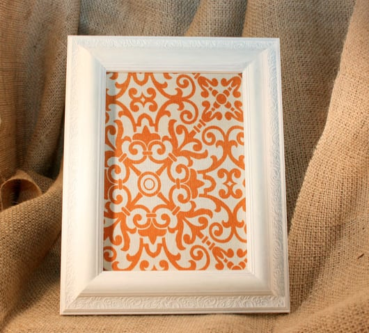 Orange Print Corkboard