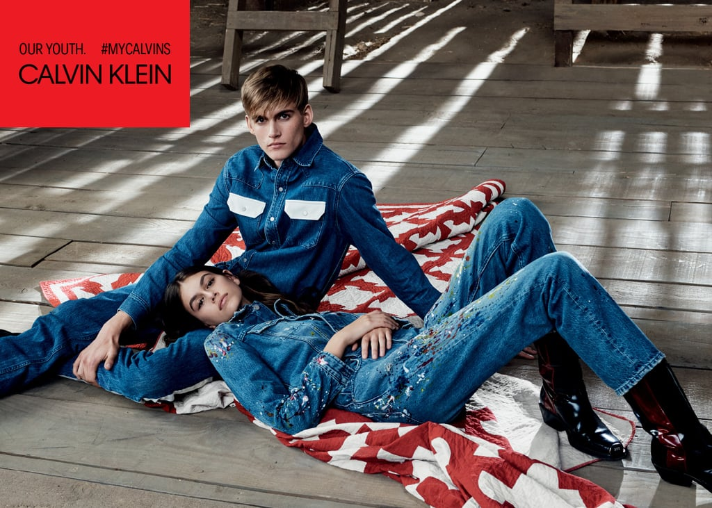 Kaia and Presley Gerber Calvin Klein Campaign Spring 2018