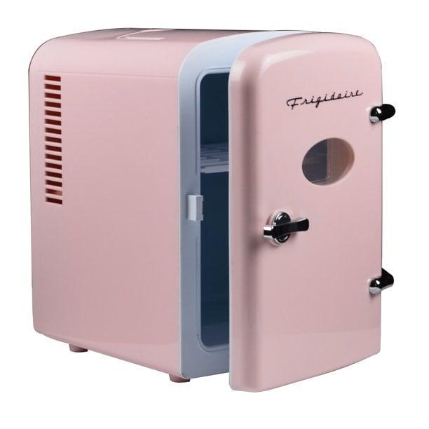 Best Mini Fridge: Frigidaire Portable Retro 6-Can Mini Fridge in Pink