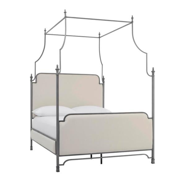 Home Decorators Collection Adelina Silver Metal Canopy Bed