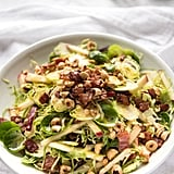 Brussels Sprout Salad with Apple, Bacon and Hazelnuts
