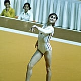 Nadia Performs Her Floor Routine at the Olympics