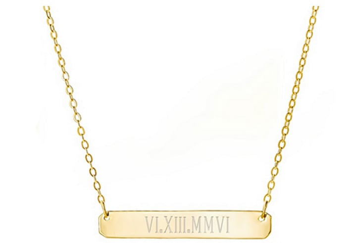 Roman Numerals Necklace