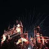 Watch Nighttime Lights at Hogwarts Castle