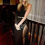 Elle Macpherson Wears See-Through Skirt | March 2016