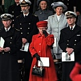 Emotional at the decommissioning of the Royal Yacht Britannia in 1997.