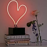 Neon Heart Table Lamp