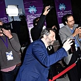 Judd Apatow Plays Instagram Husband and Snaps Photos of Leslie Mann on the Red Carpet