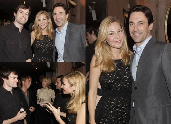 The Town's Jon Hamm at a Details Dinner and Doing Interviews in NYC