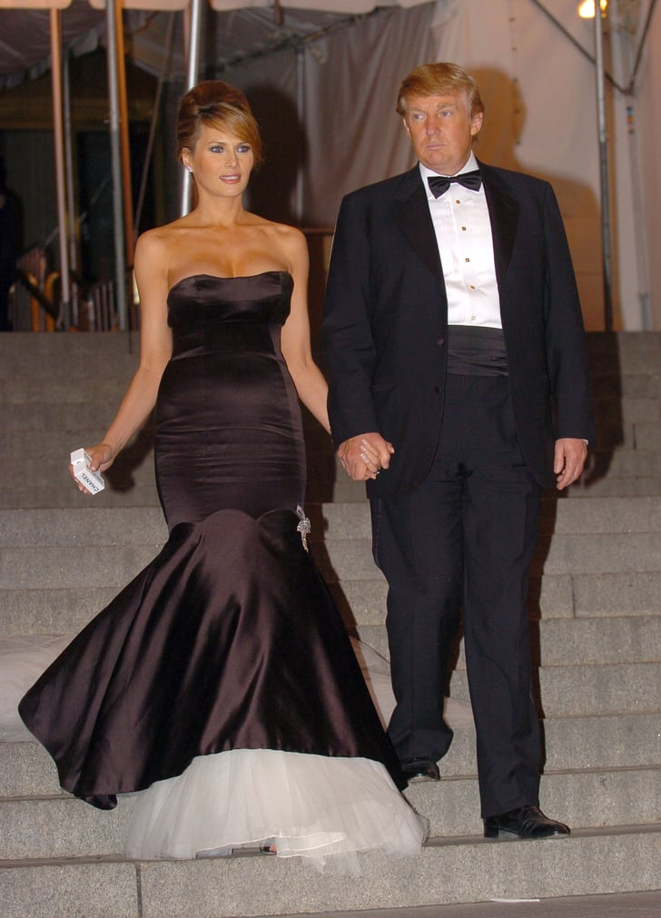 Melania S Mermaid Style Gown For The 2005 Met Gala Which