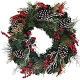 24 Inch Wreath Depot Somerset Winter Red Berry Wreath