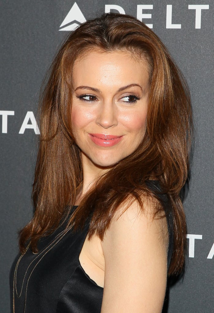 Alyssa Milano at Delta's Grammys Preparty