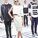 Rita Ora took in the Pyer Moss designs at the label's Made presentation.