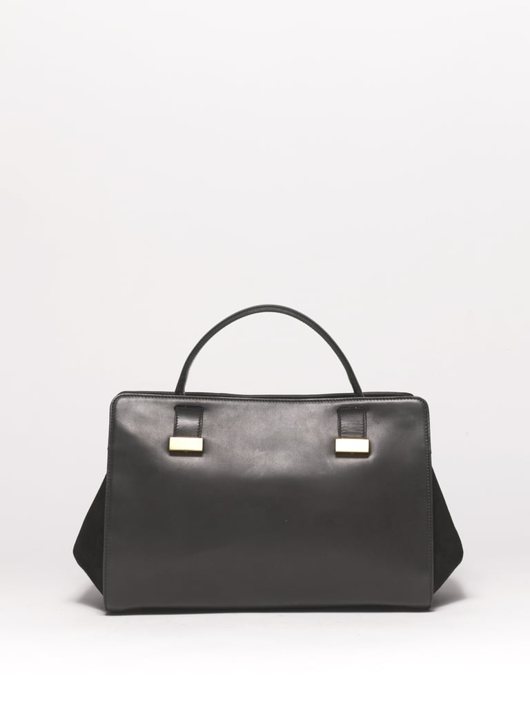 Doctor Bag in Black Calfskin and Suede