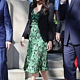 Meghan Markle Fall Outfit Idea: A Floral Dress and Blazer