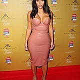 Leave It to Kim to Rock This Slick Latex Dress