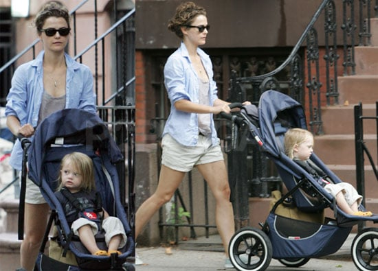 Photos of Keri Russell Walking in Brooklyn With Son Rivery Deary