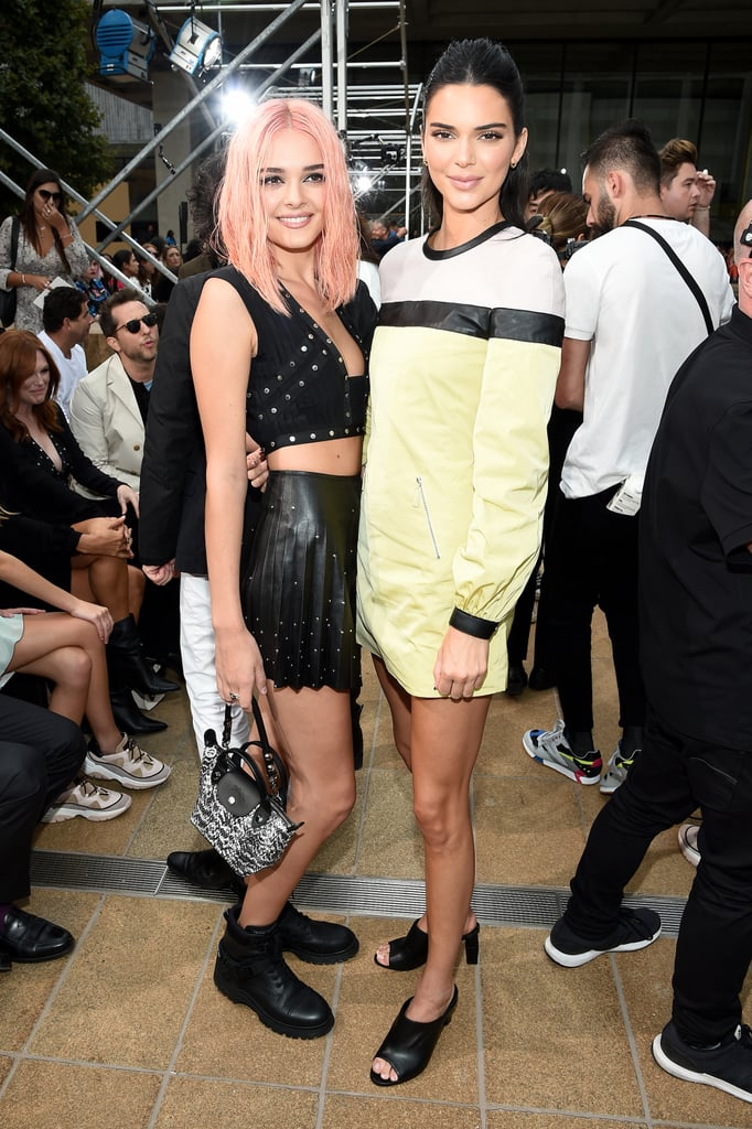 Charlotte Lawrence and Kendall Jenner at Longchamp Spring 2020