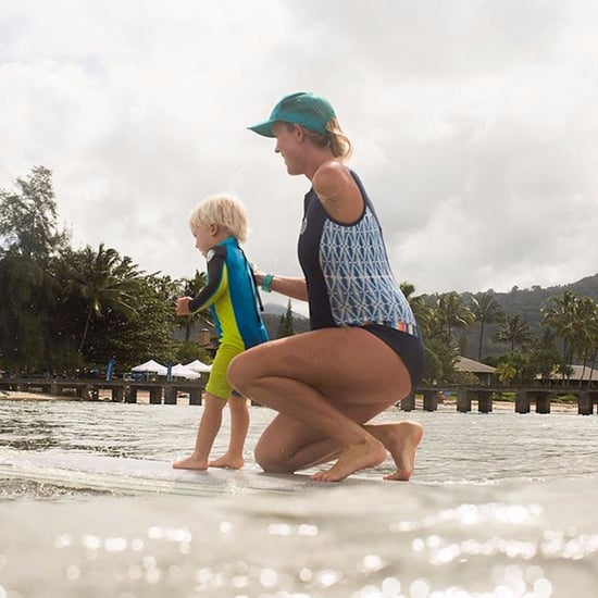 Bethany Hamilton Teaching Son Tobias How to Surf Pictures
