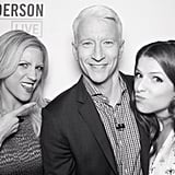 Anderson Cooper made sure to get a shot with guests Brittany Snow and Anna Kendrick. Source: Instagram user andersoncooper
