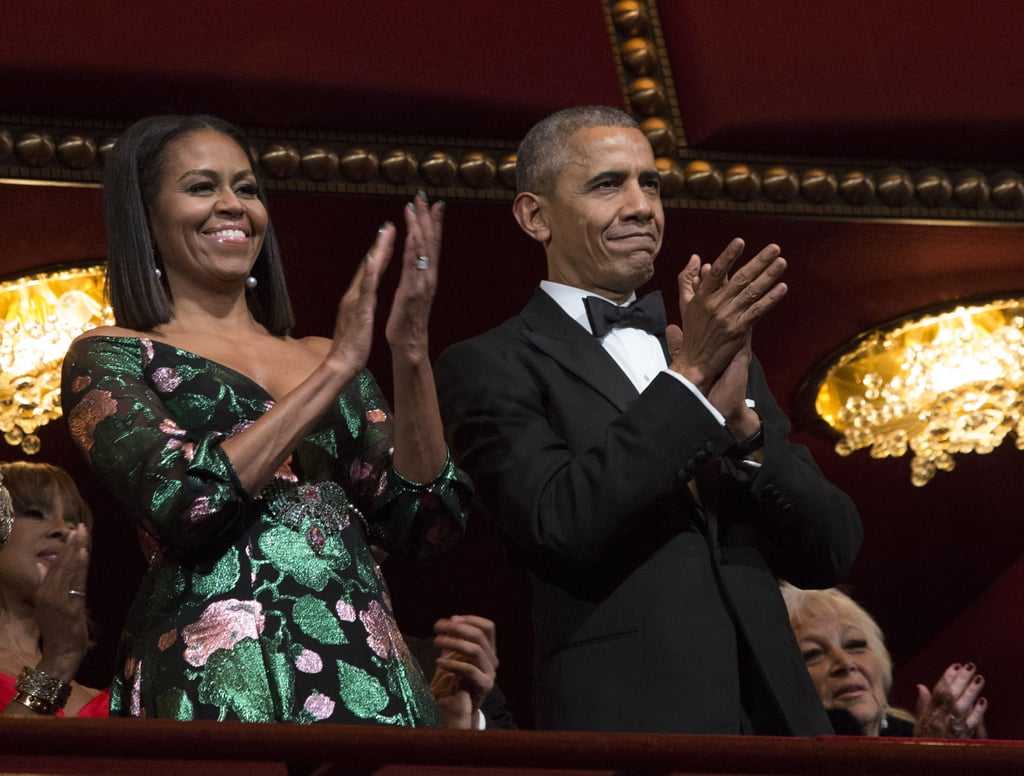 President Barack Obama and First Lady Michelle Obama went out with style when they attended their eighth and final Kennedy Center Honors in Washington DC on Sunday. The two showed sweet PDA as they held hands and flashed warm smiles on their way to the event, which honors performers who are recognized for influencing American culture. While Barack looked dapper in a black suit and tie, Michelle wowed in a festive green and pink embellished gown. The pair have certainly been keeping busy as they wrap up their final year in the White House. Aside from pardoning their final turkey over Thanksgiving, the first family also had a fun-filled affair with some of Hollywood's biggest stars for the National Christmas Tree Lighting Ceremony. We are definitely going to miss the Obamas when they leave office.       Related:                                                                44 Photos of Barack and Michelle Obama's Cutest Moments as America's Former First Couple                                                                   Sasha and Malia's Cutest Moments With Mom Michelle