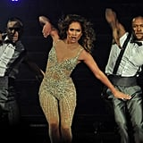 J Lo danced on stage during her tour.