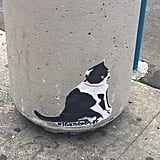 Street art around the convention featured felines, keeping the festivities going even after the event ended.