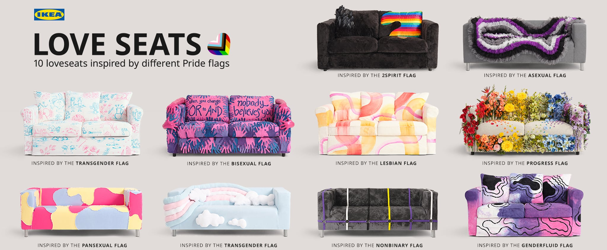 See Ikea's Pride Couches and Love Seats