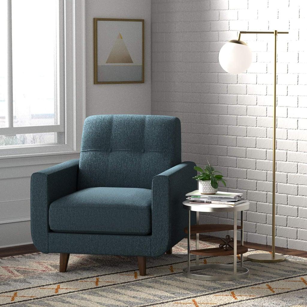 Rivet Sloane Mid-Century Modern Armchair