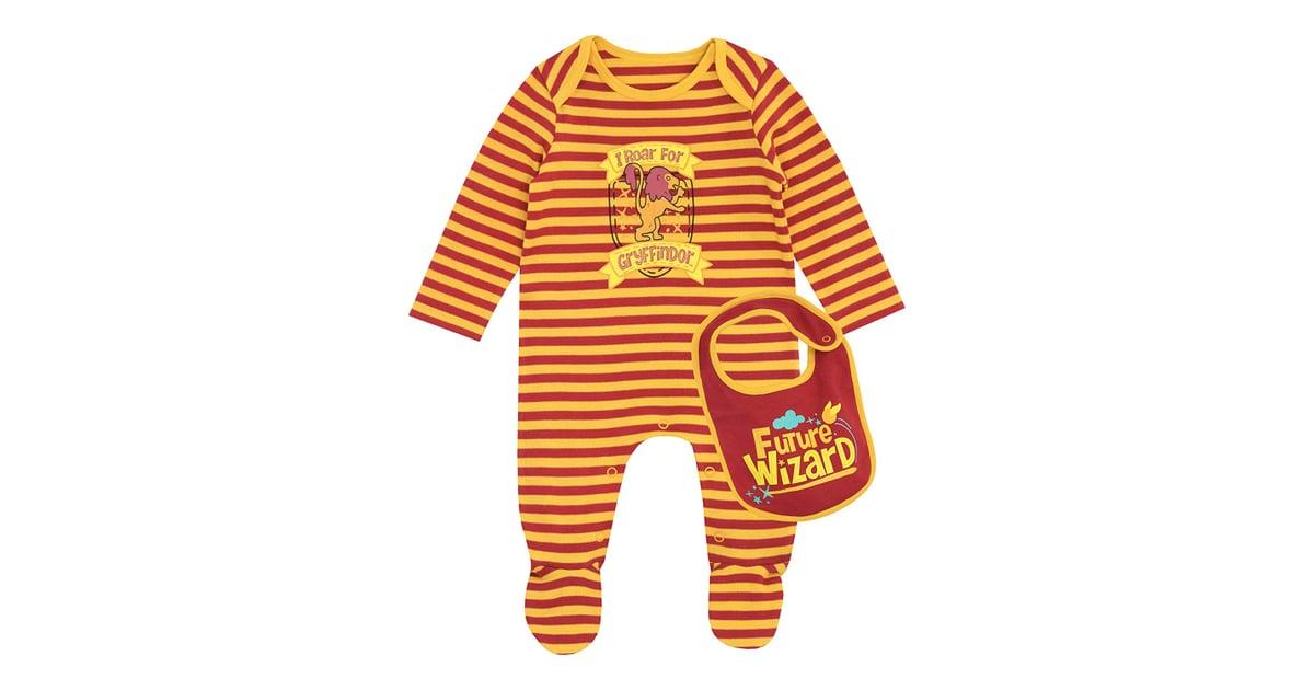 14344e27f Harry Potter Baby Gryffindor Footies & Bib Set | Harry Potter Gifts For  Newborns | POPSUGAR Family Photo 9