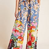 Leilani Paperbag Wide-Leg Pants