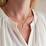 Bloom Boutique Personalised Script Letter Pendant Necklace