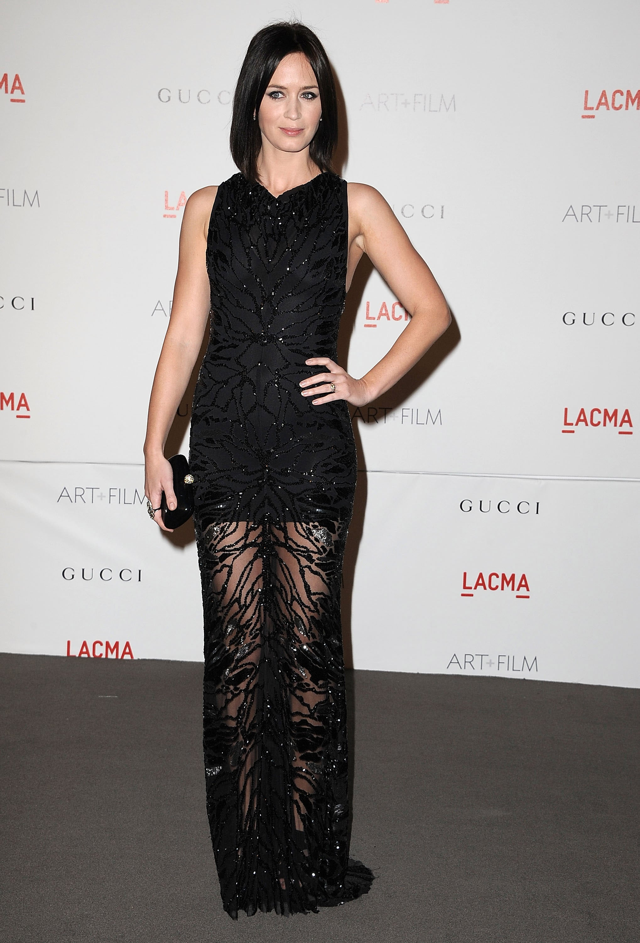 Emiliy Blunt at a LACMA bash in LA.